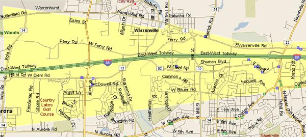 warrenville service areas