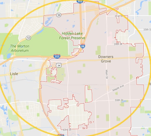 downers grove service areas